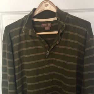 Bass striped quarter zip shirt